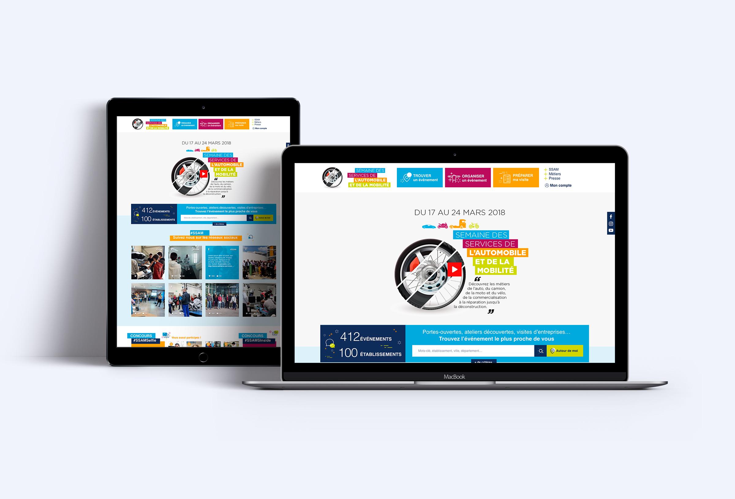 Création du site web de la SSAM 2018