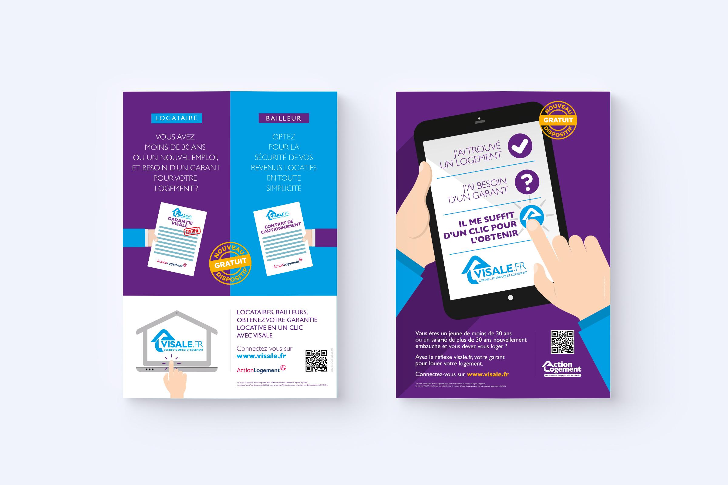 Création affiches campagne Visale