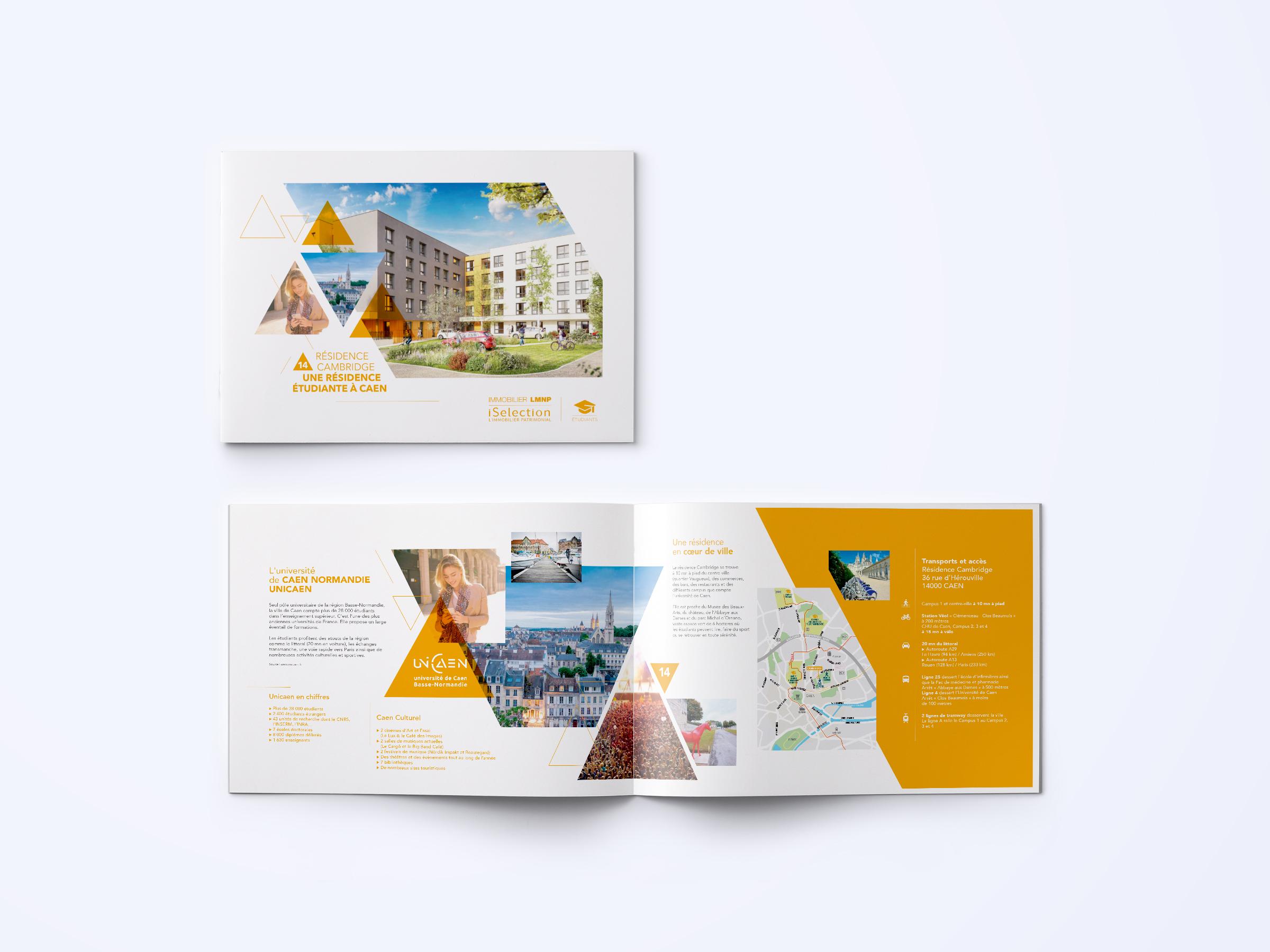 Réalisation plaquette programme immobilier iSelections