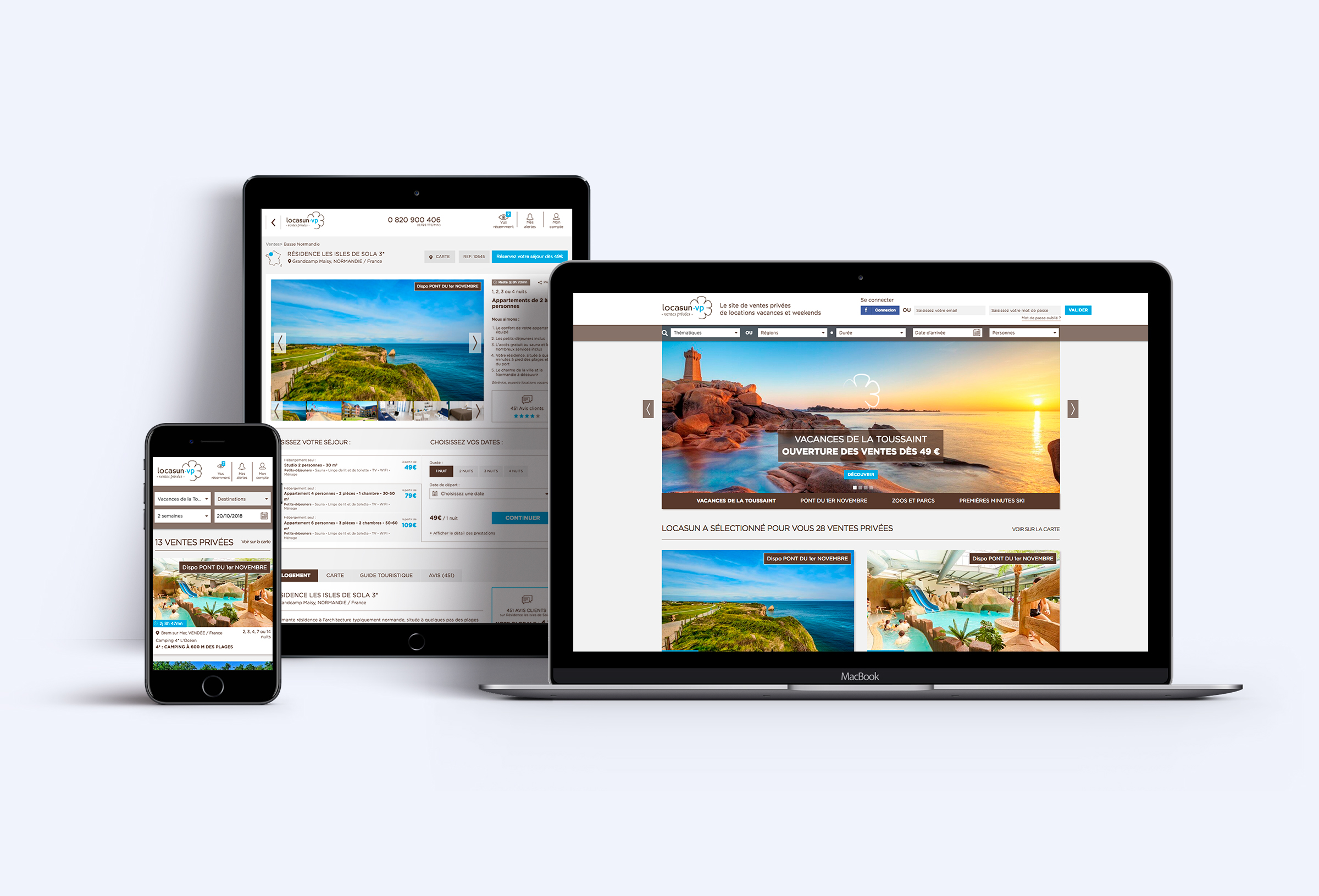 Site internet de Locasun responsive multi-devices