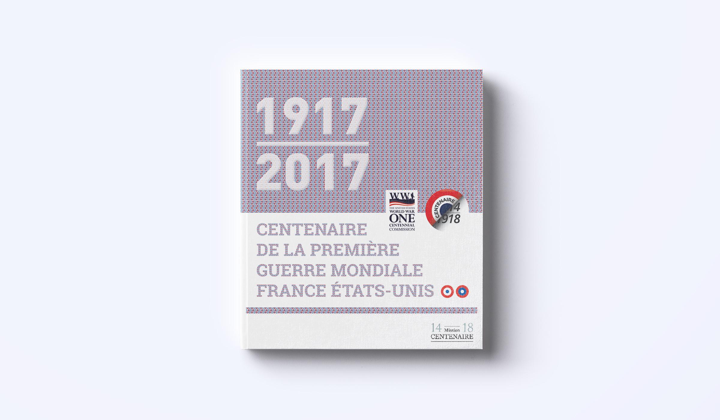 création couverture brochure franco-américaine