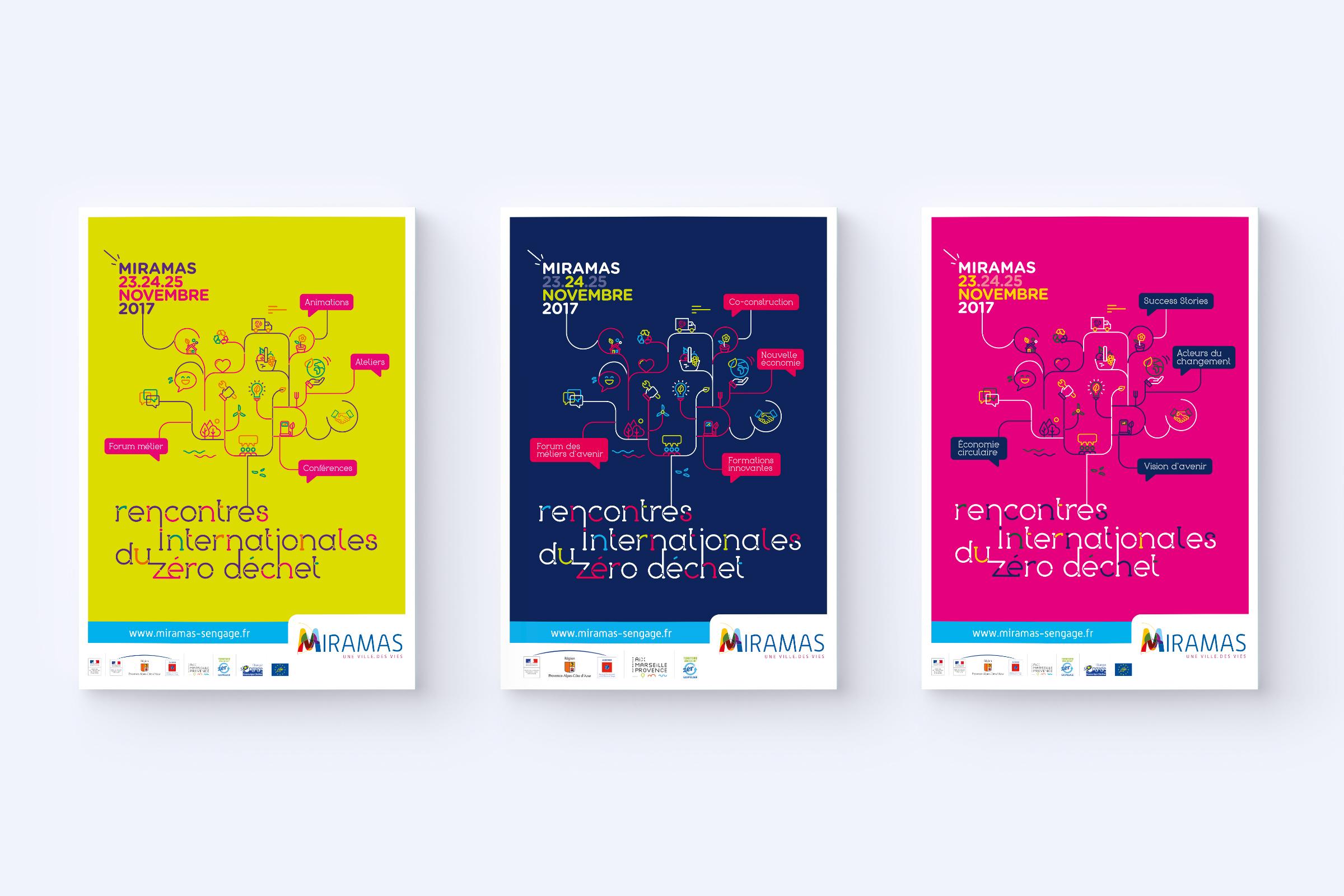 Réalisation d'affiches Rencontre internationale du zéro déchet