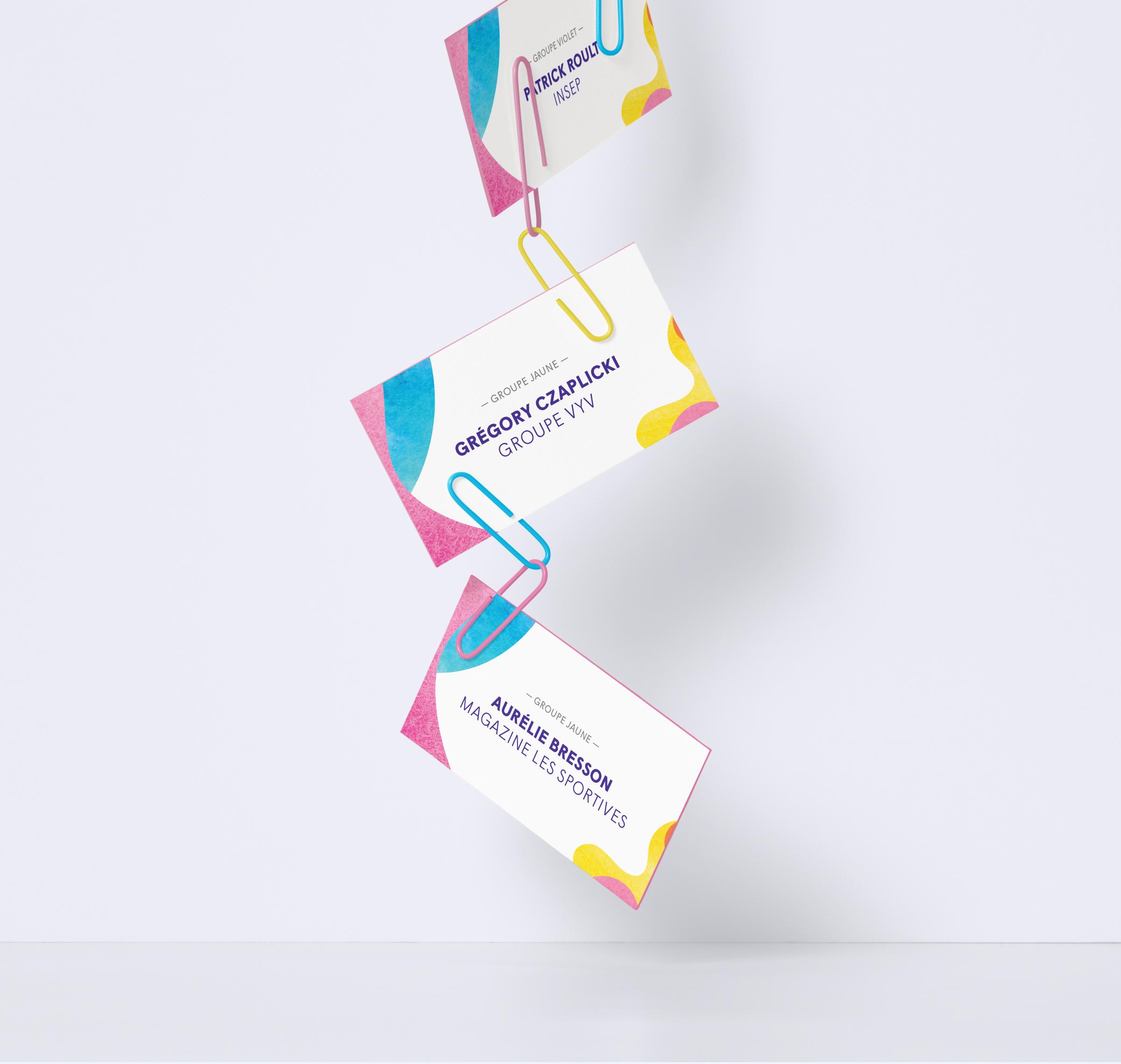Groupe VYV création badges journée conférence débat et atelier