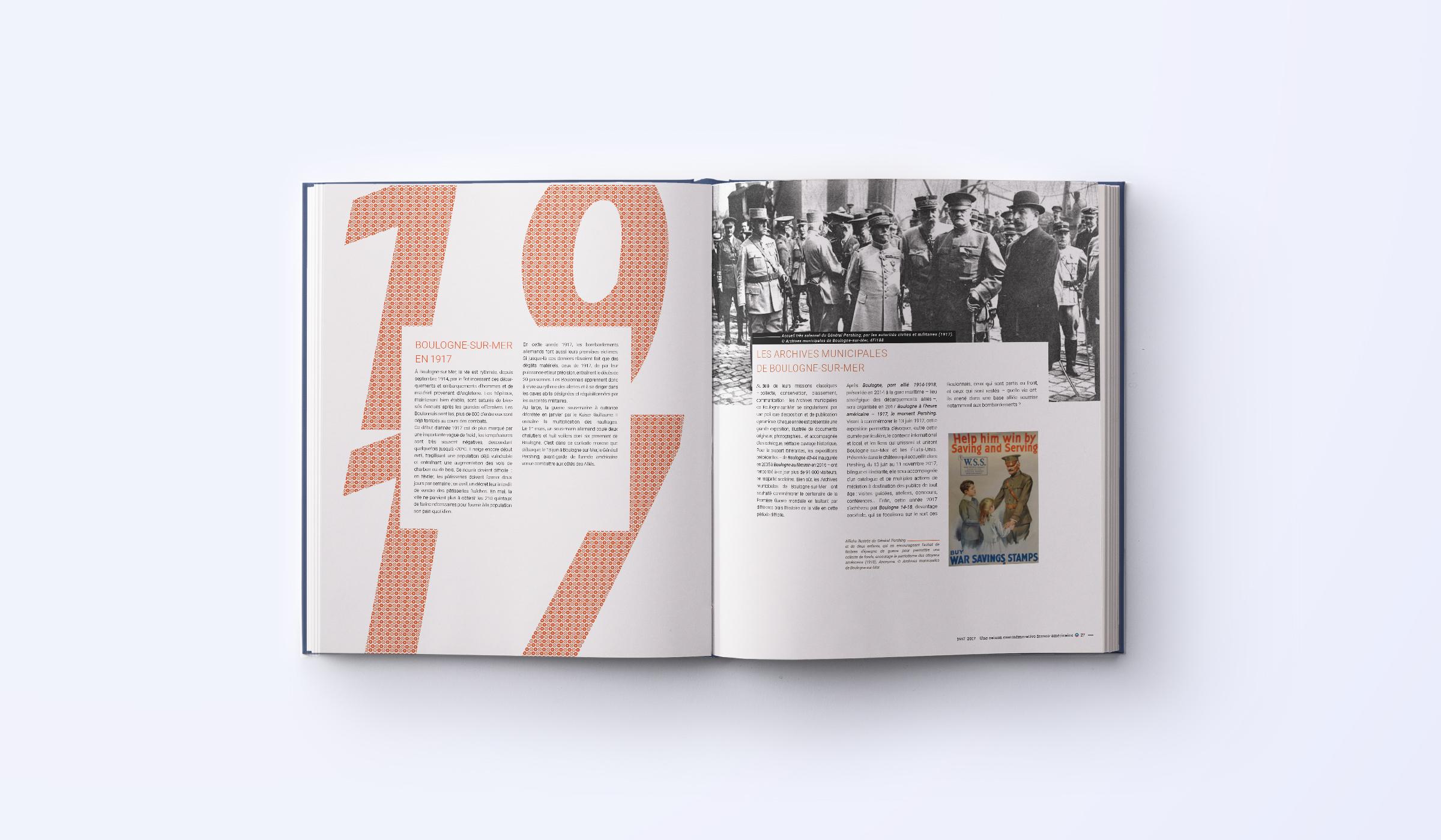 création double page brochure franco-américaine