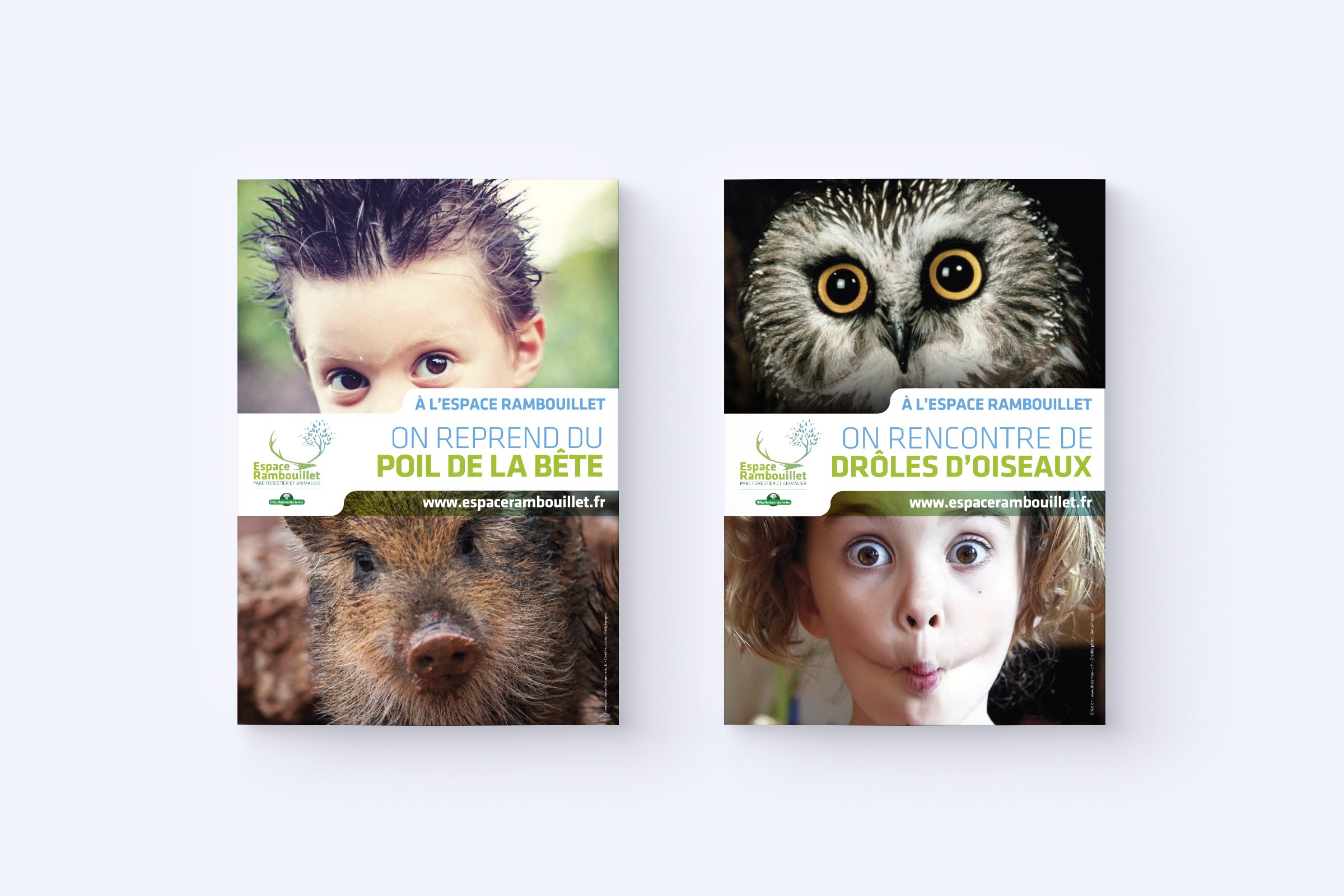 Conception affiches campagne ONF