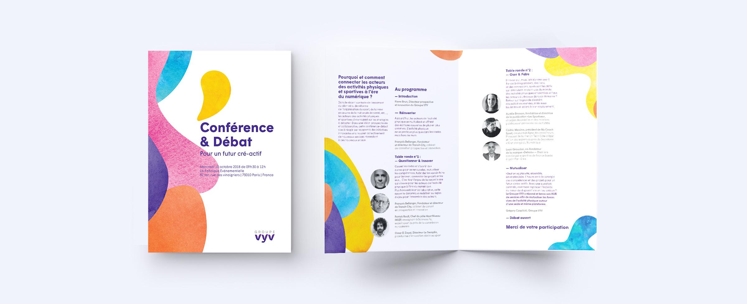 Groupe VYV création programme journée conférence débat et atelier