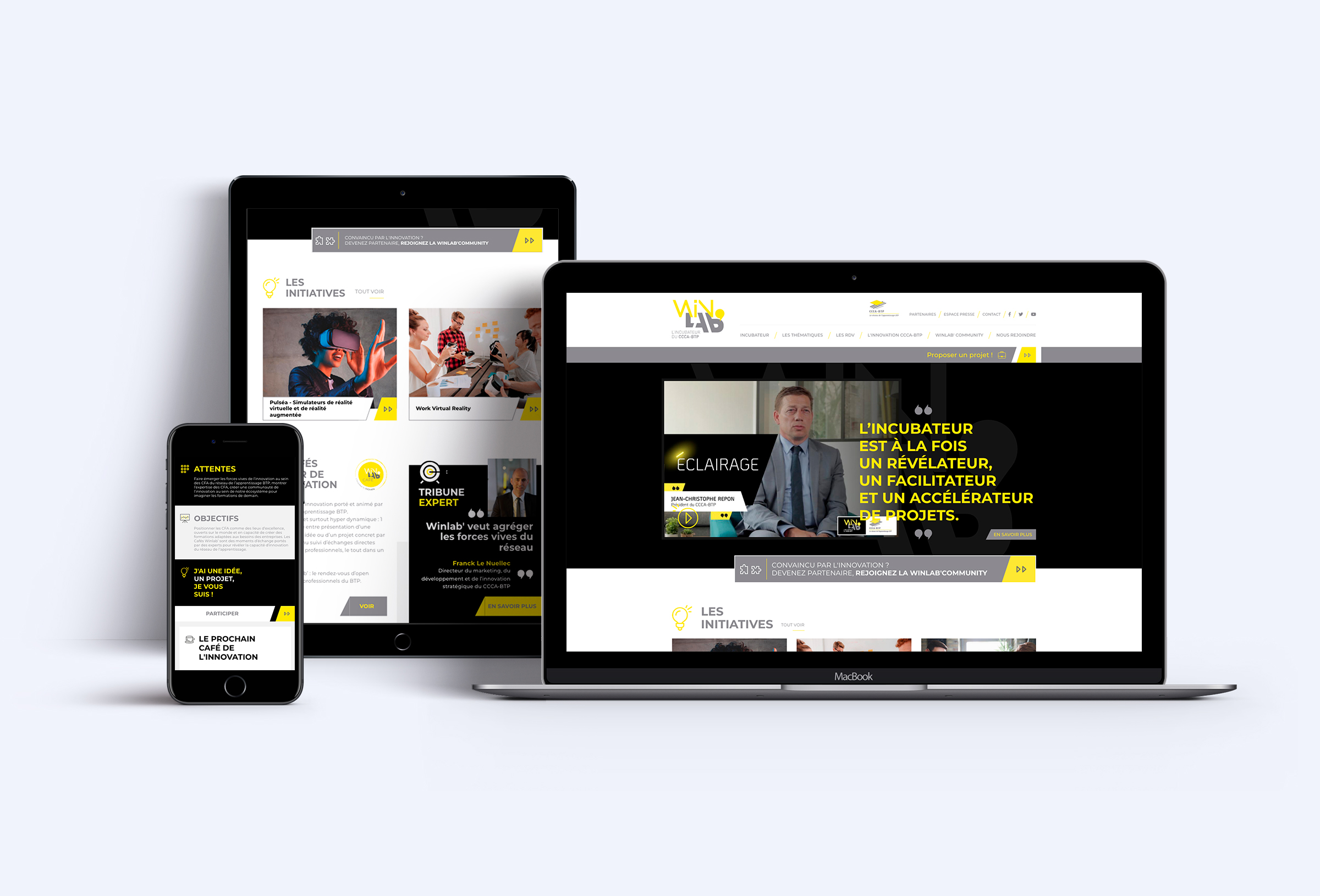 Winlab site internet responsive
