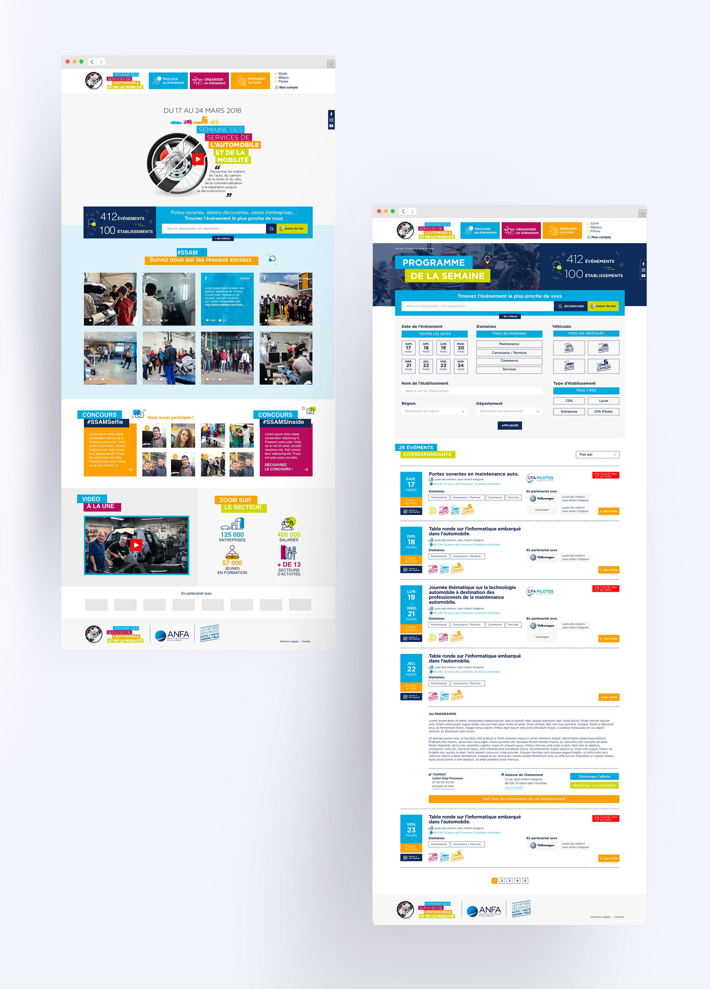 Site web SSAM 2018
