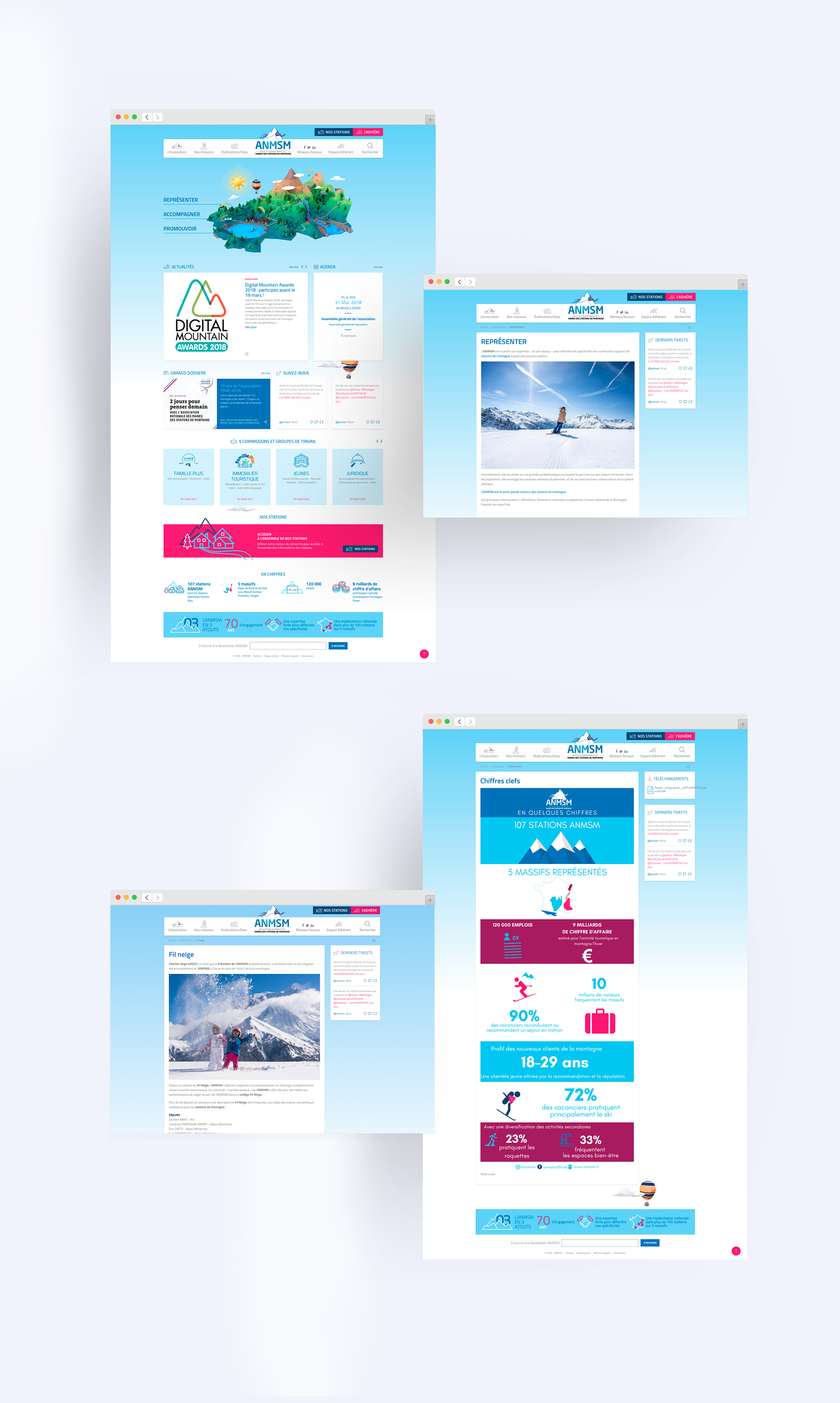 Conception et réalisation site web ANMSM