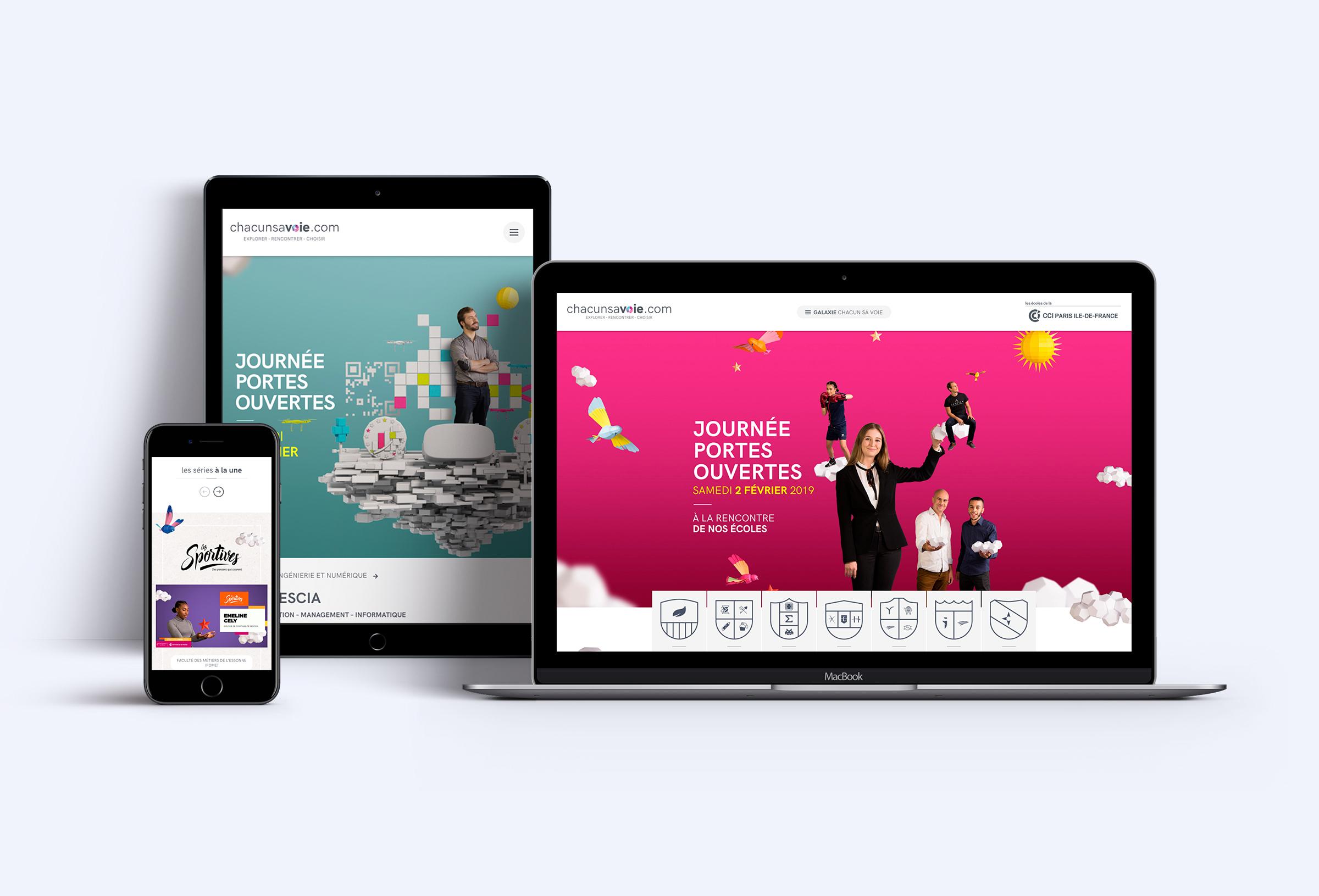 CCI Paris-Ile-de-France - Site responsive campagne Journées Portes Ouvertes 2019