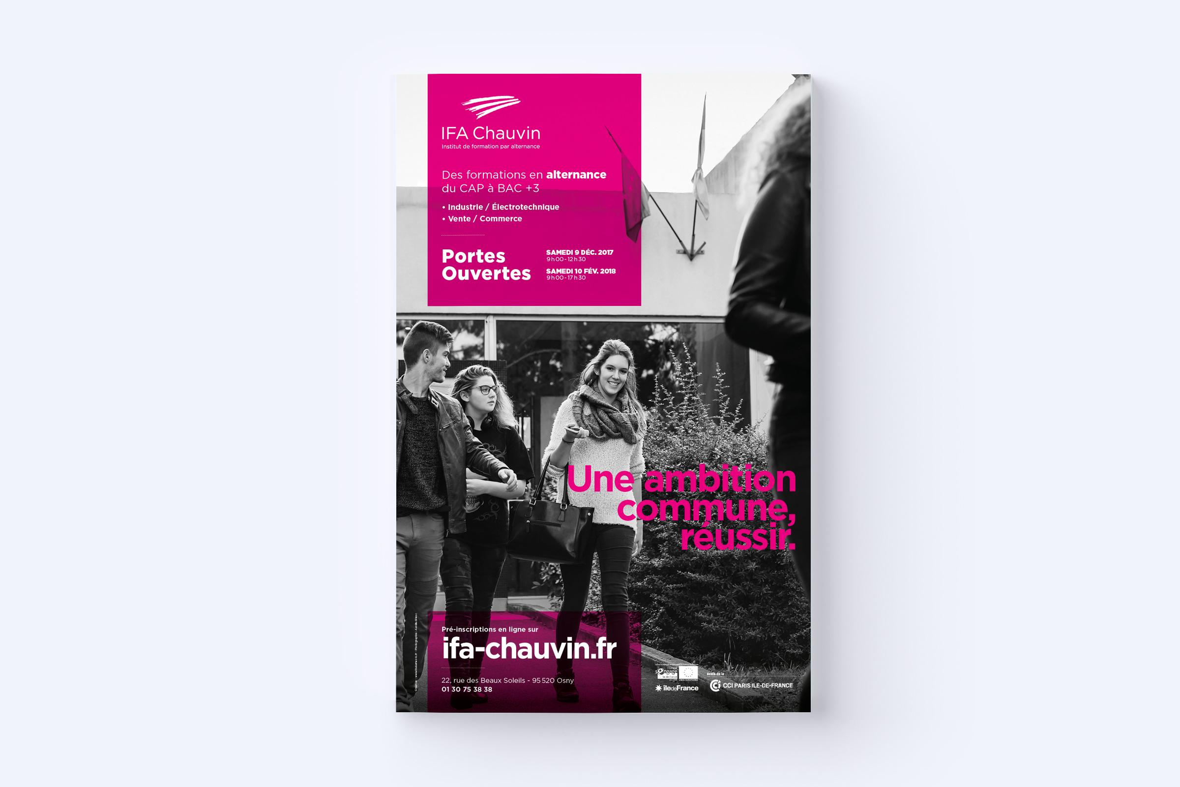 Création d'affiches pour l'IFA Chauvin
