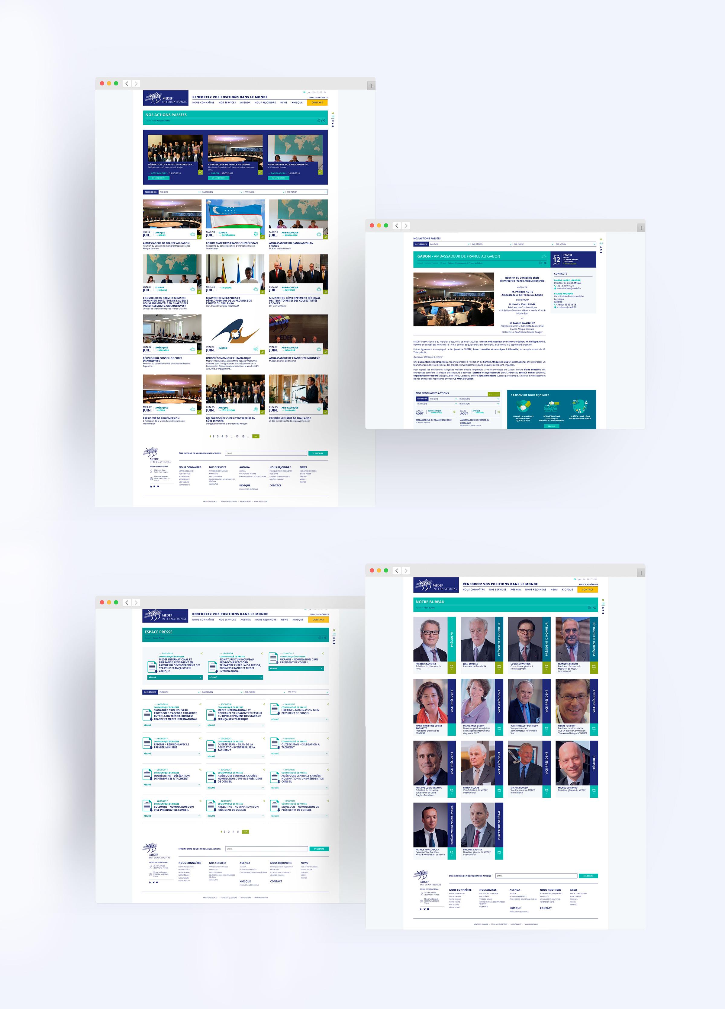 Site web Medef International