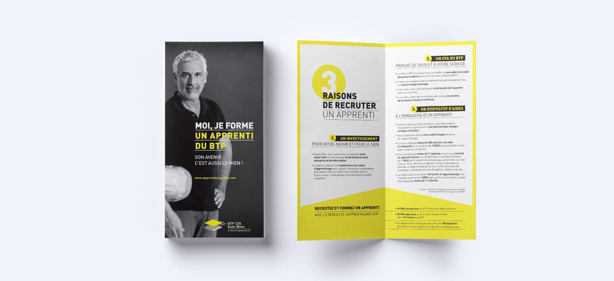 Création dépliant campagne promotion entreprises