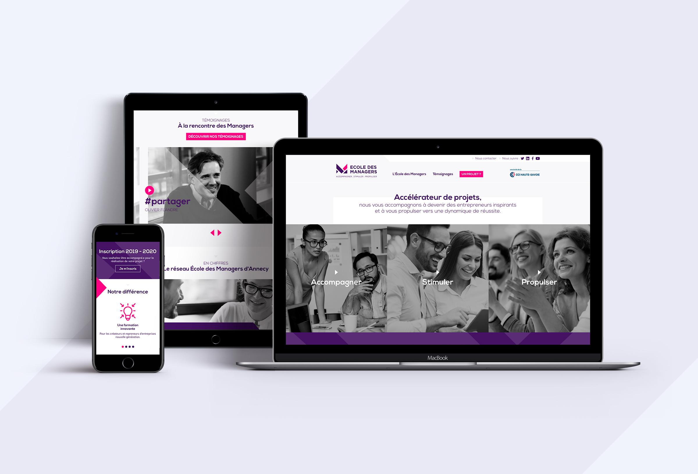 Ecole des managers production site internet