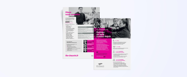 Création de flyers pour l'IFA Chauvin