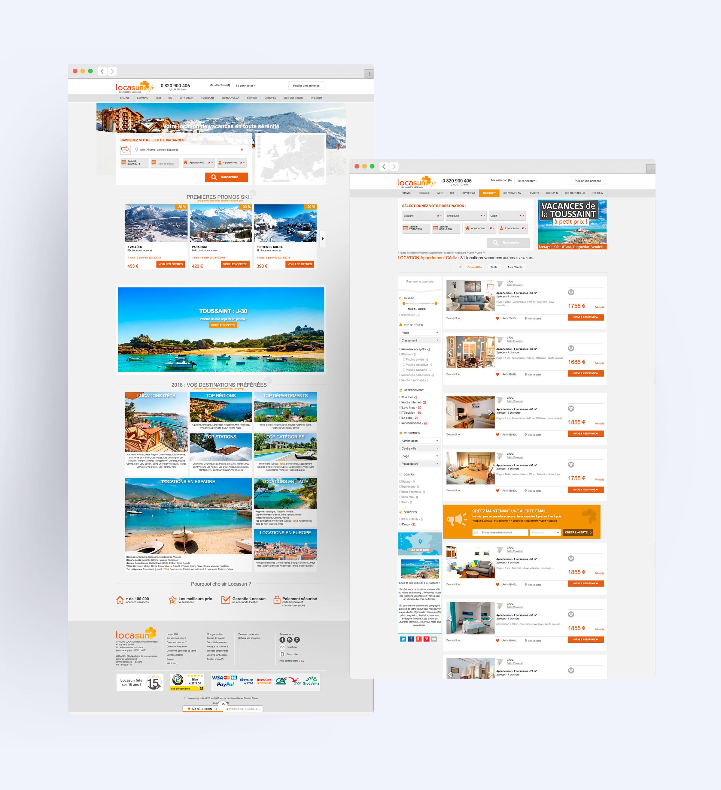 Production du site internet de Locasun