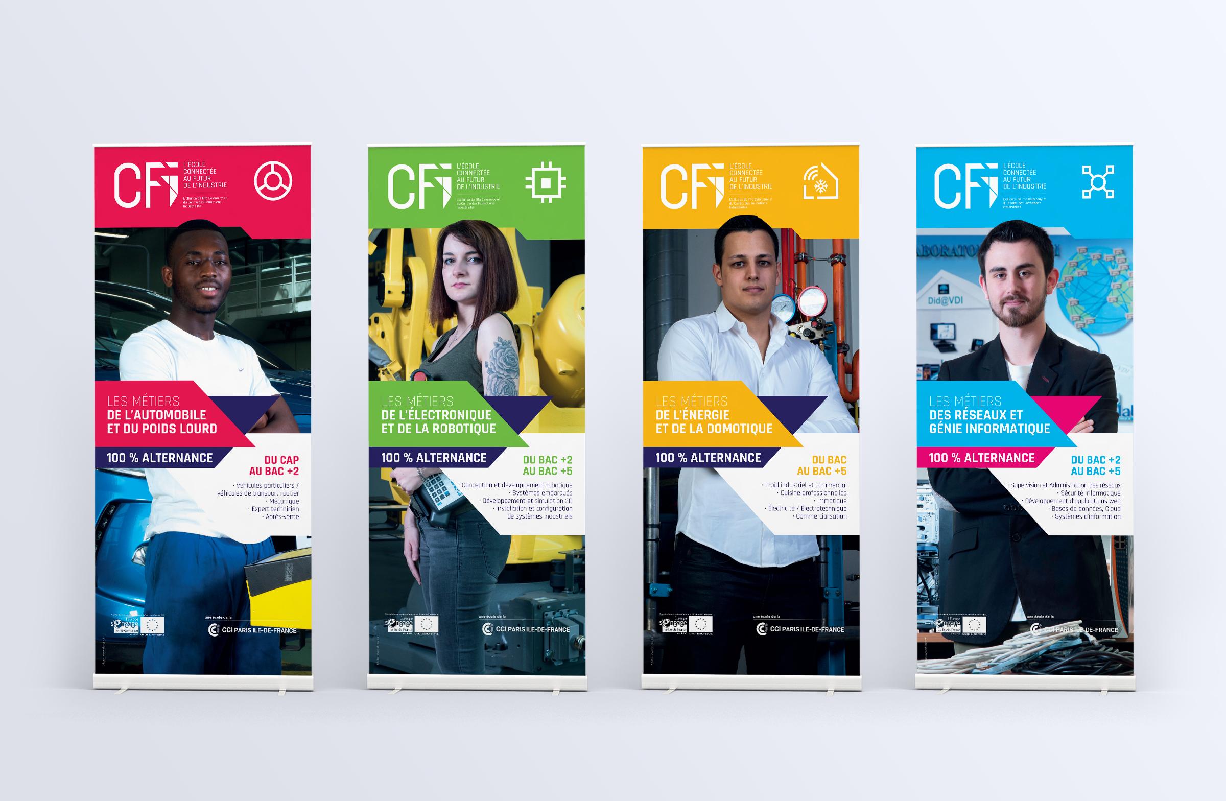 Création kakémonos CFI