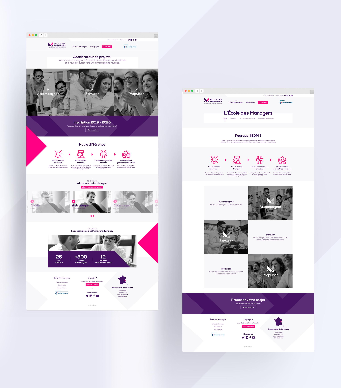Ecole des managers production site internet agence digitale paris