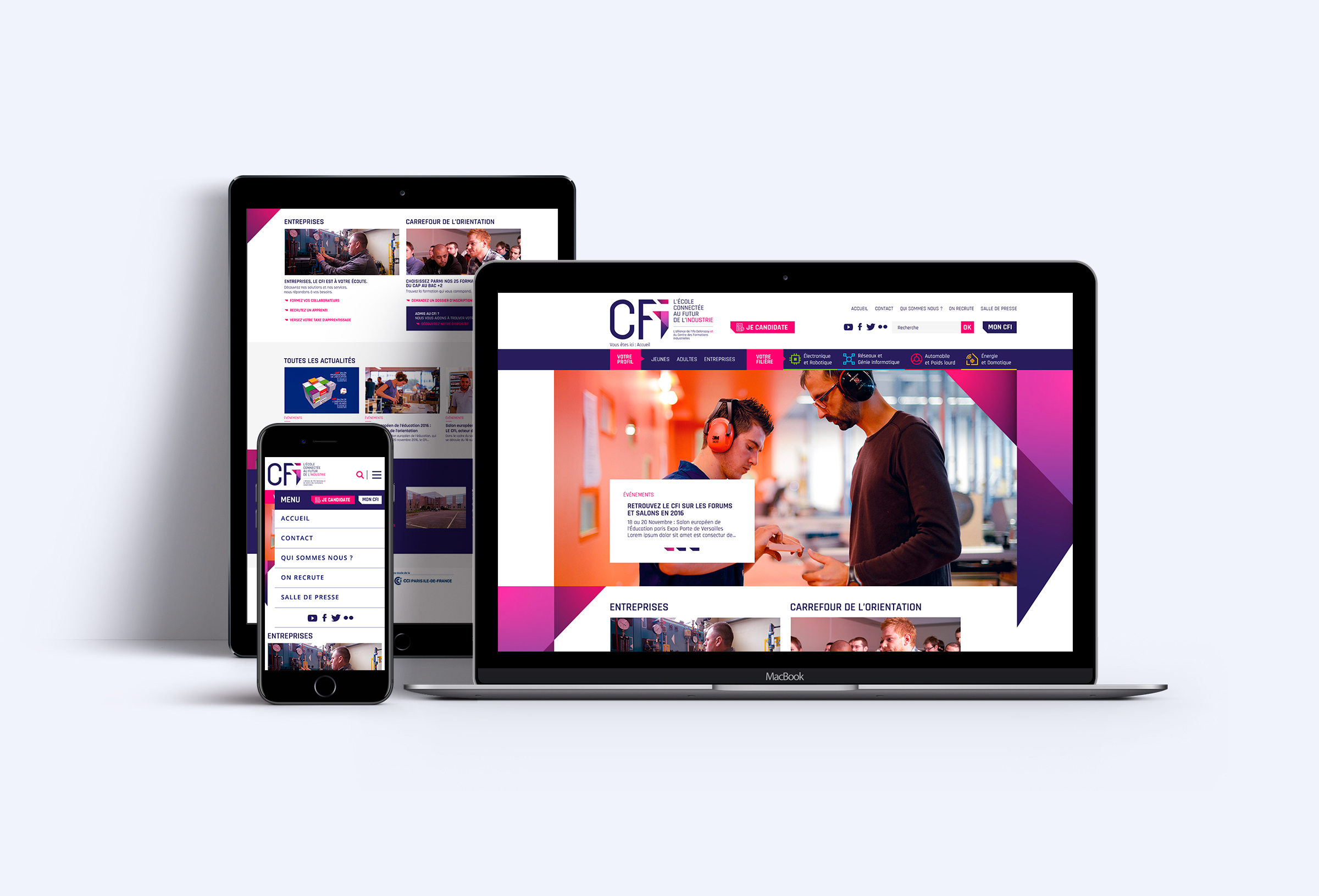 Conception production site web responsive CFI