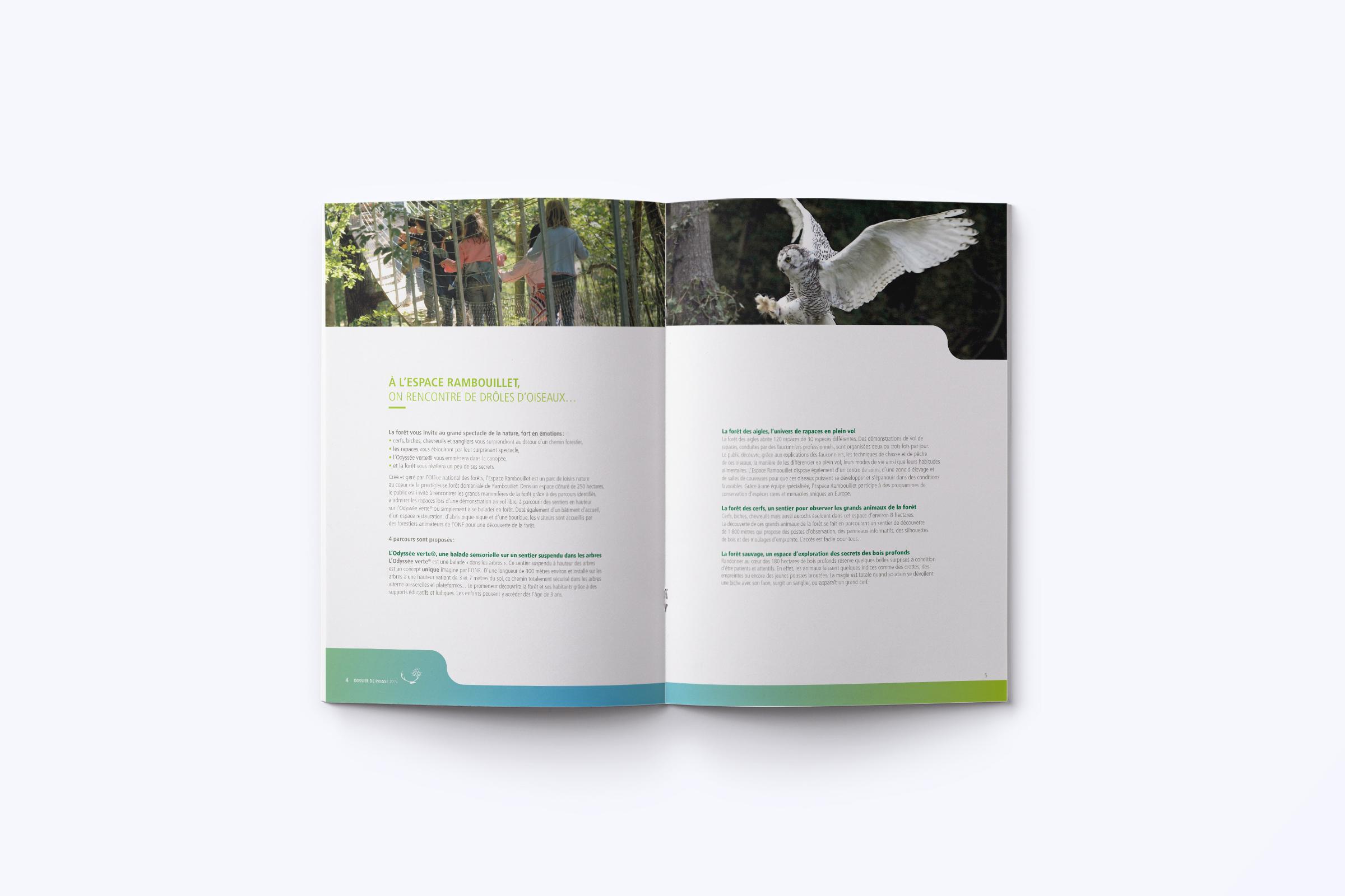 Création brochure Espace Rambouillet