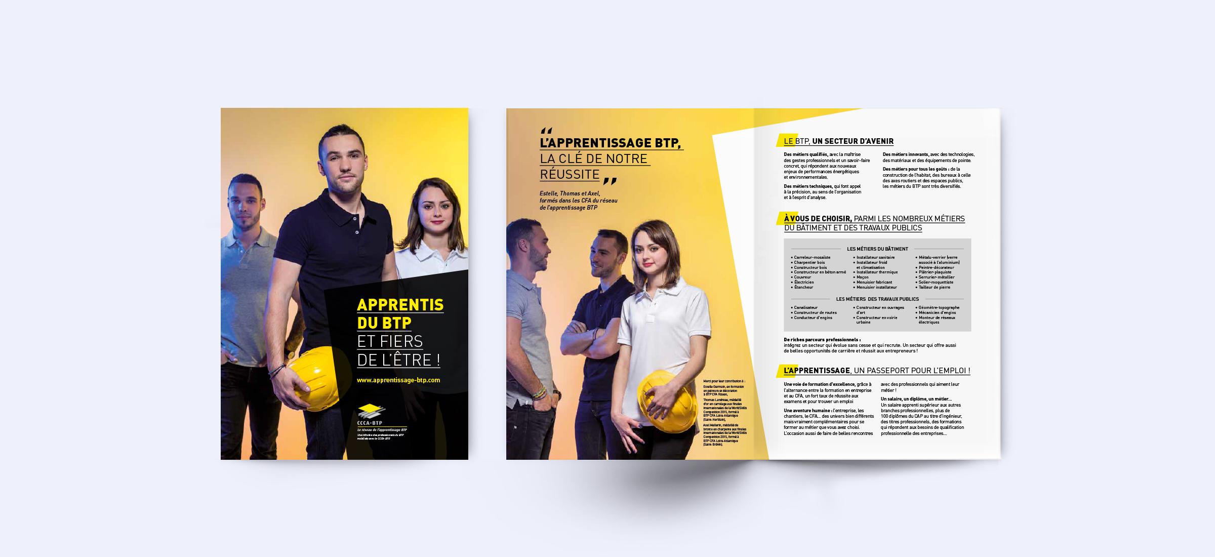 Création dépliant campagne promotion jeunes