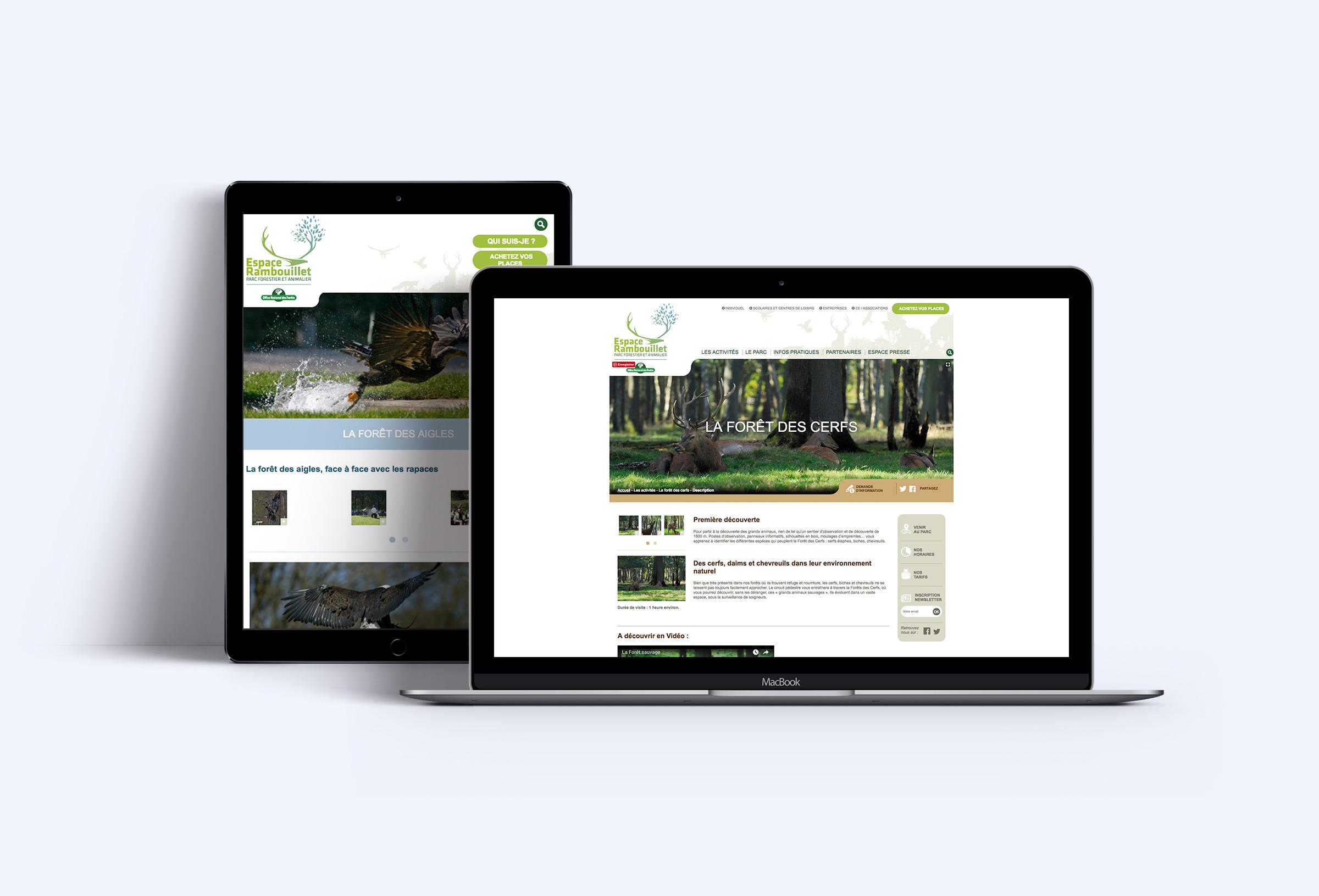 Conception et production site web responsive Espace Rambouillet