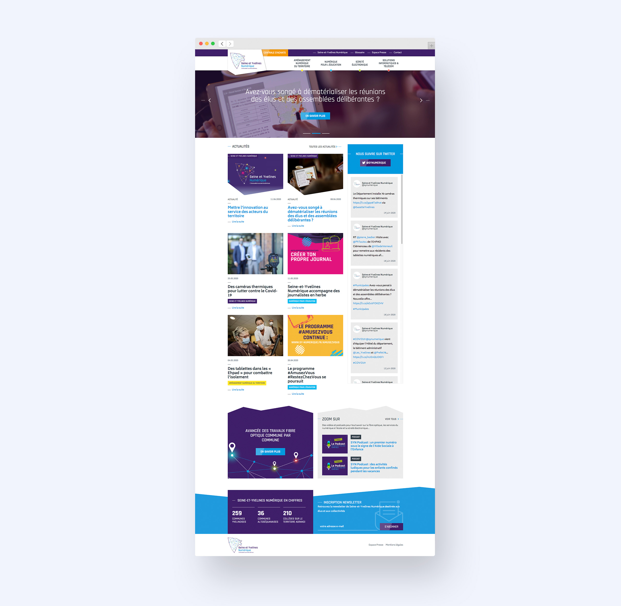 site web SYN page