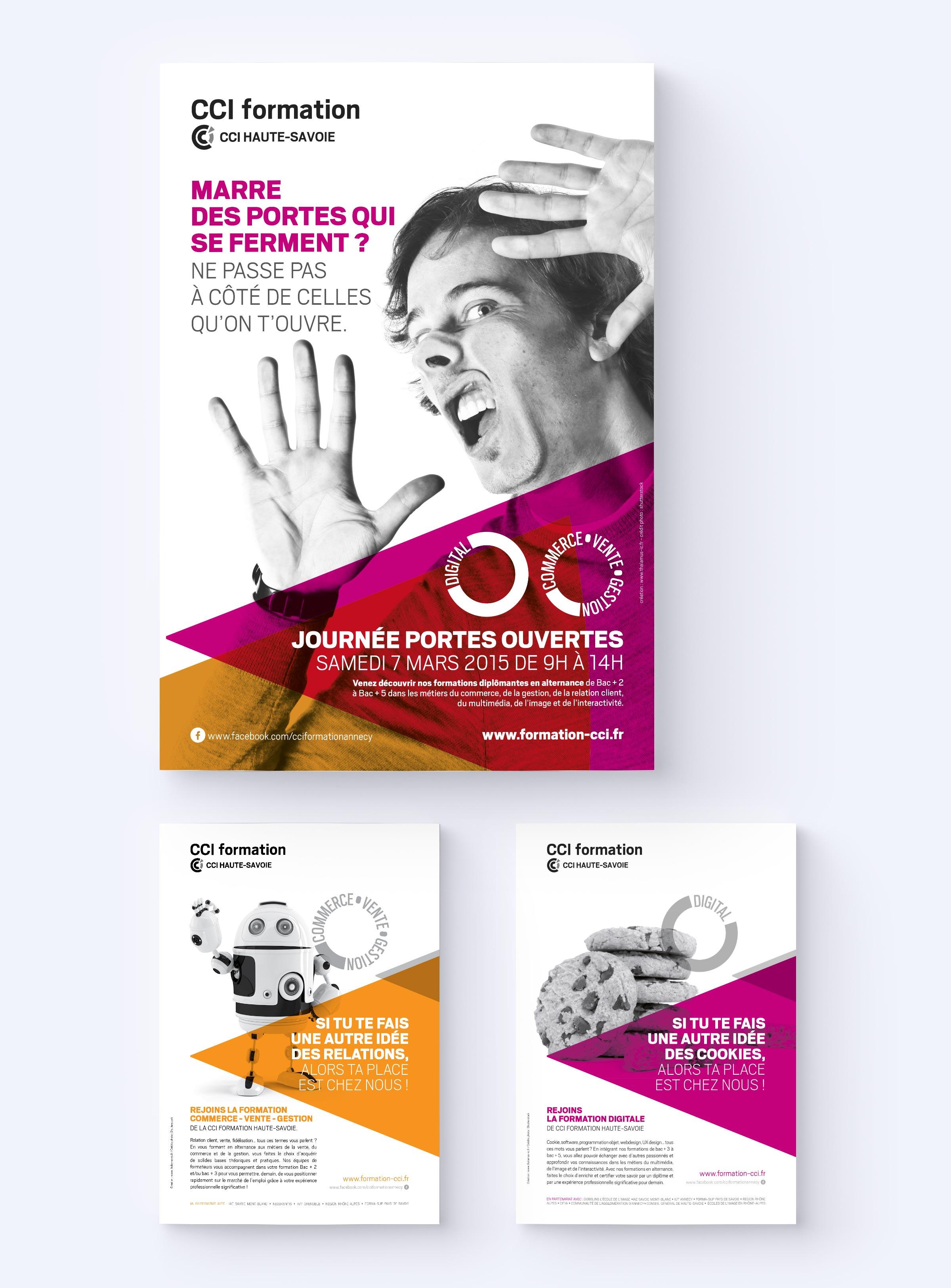 CCI 74 création supports campagne de communication