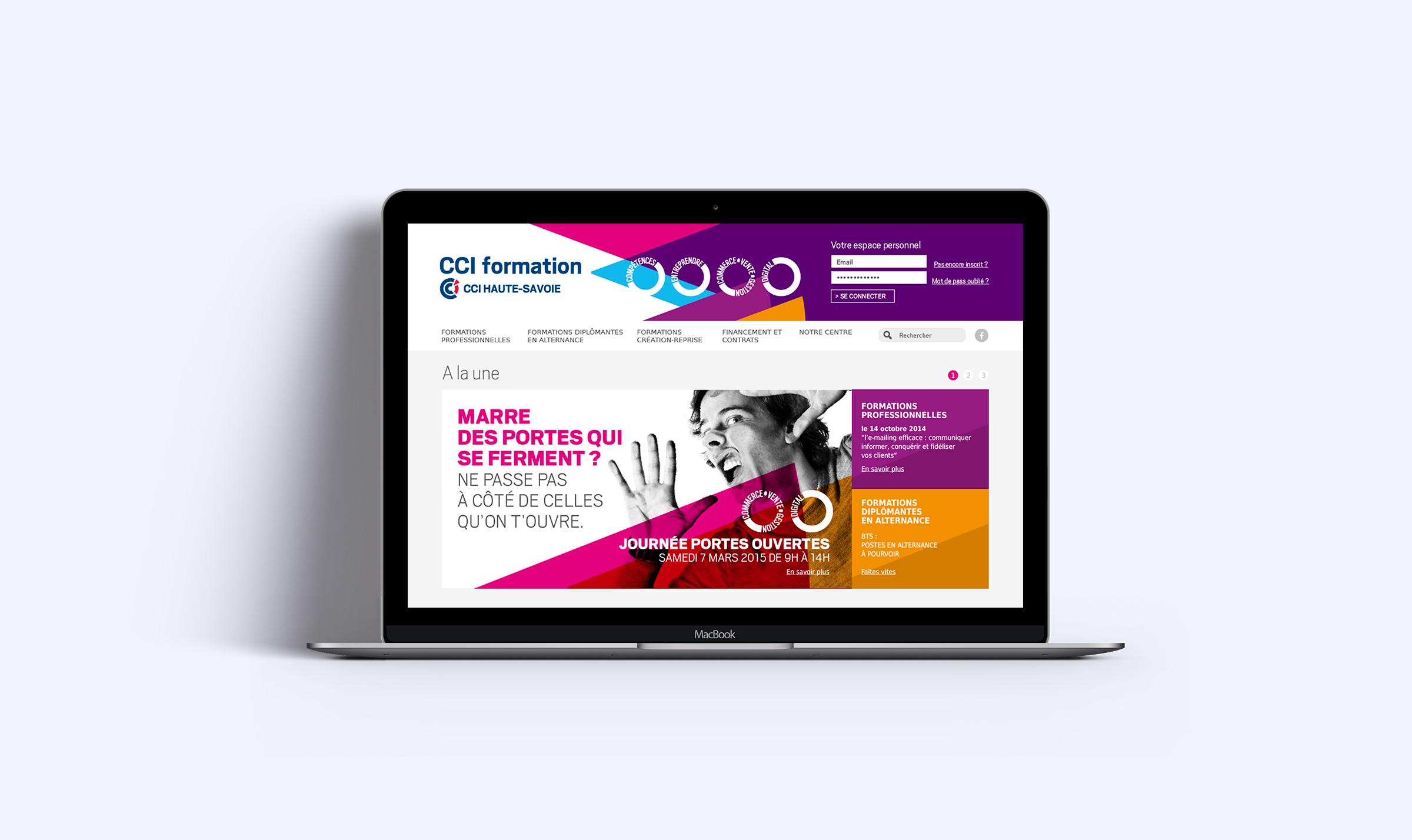 Conception et production site web CCI74