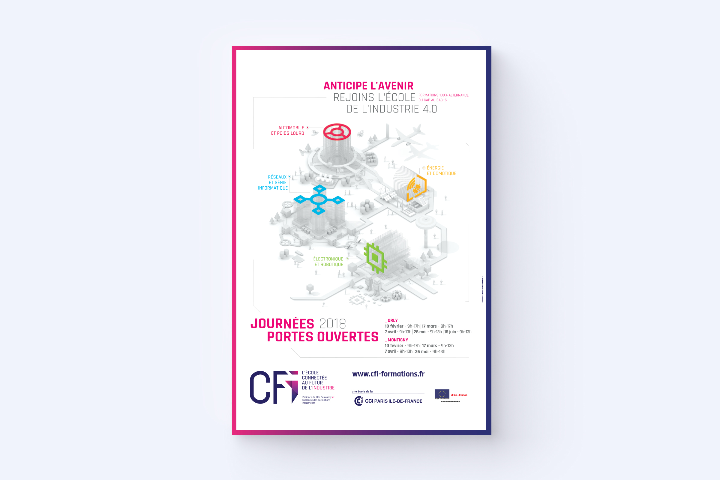 Supports visuels campagne de communication CFI