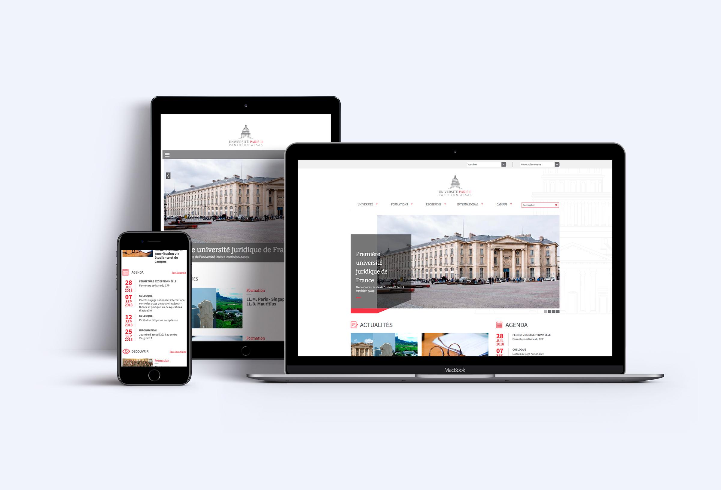 Refonte du site internet de Panthéon Assas