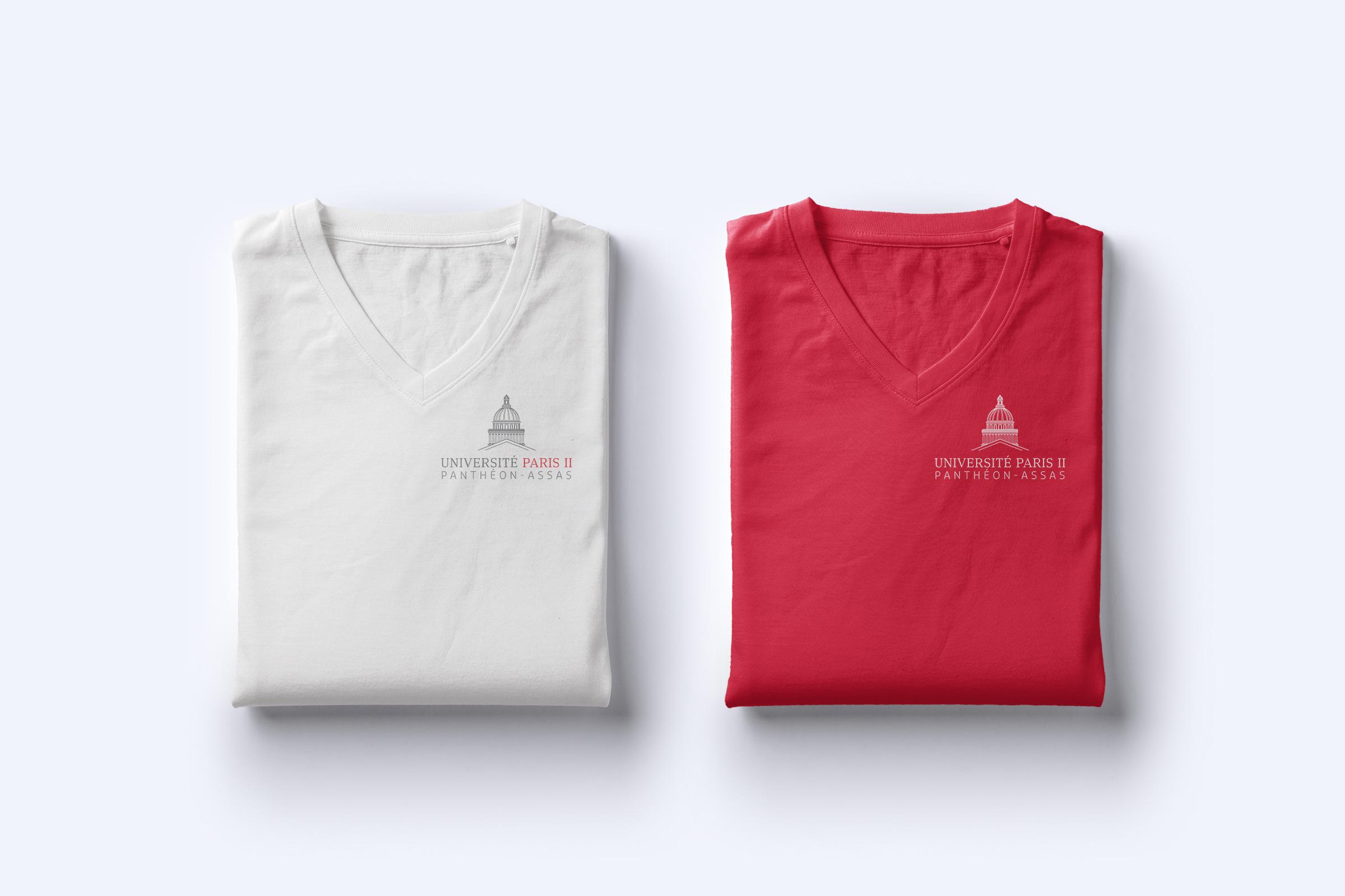 Application sur textile Université Panthéon Assas