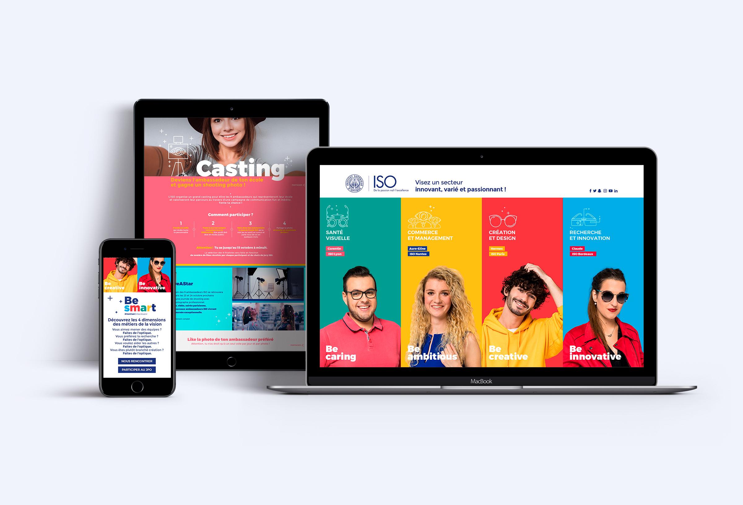 réalisation landing page ISO agence digitale paris