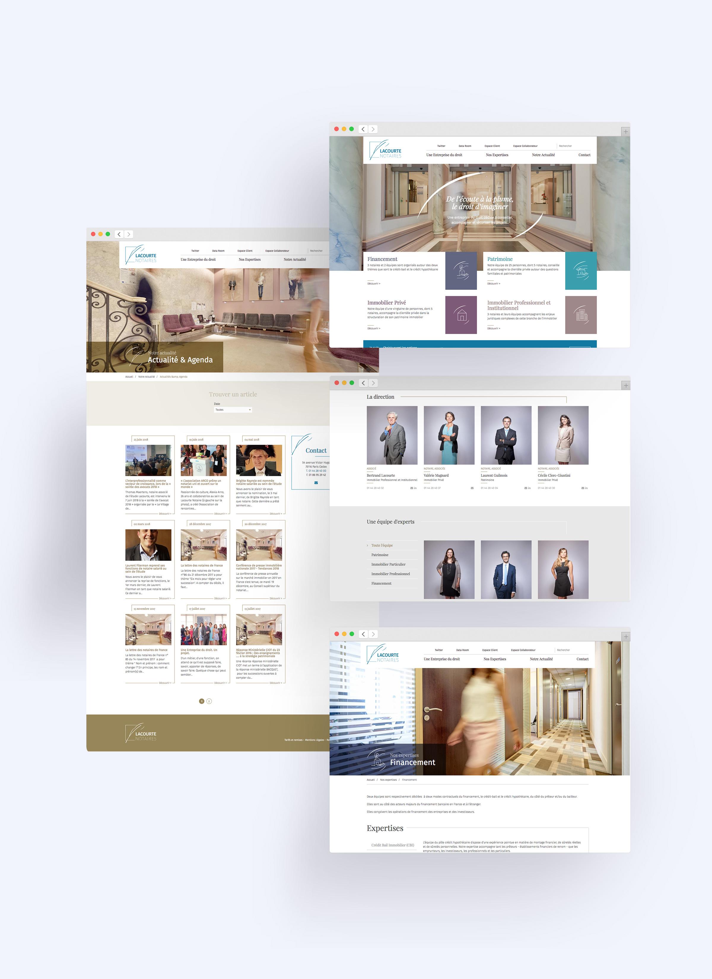 Conception et production refonte site web Lacourte
