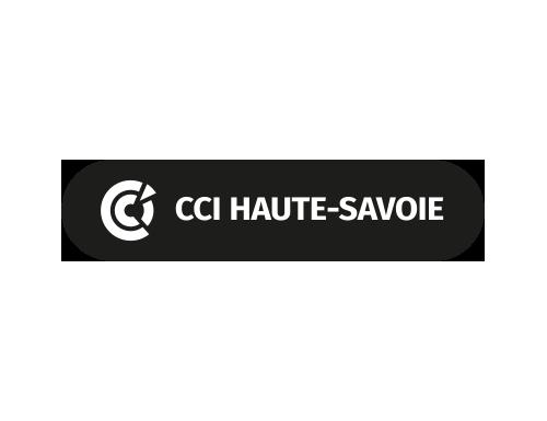 logo CCI Haute-Savoie noir et blanc
