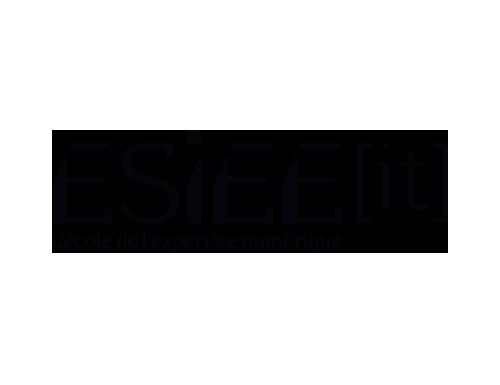 Logo ESIEE IT noir et blanc