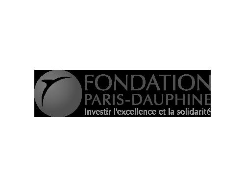 logo Fondation Paris Dauphine noir et blanc