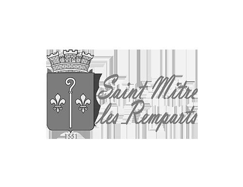 logo st Mitre-les-remparts noir et blanc