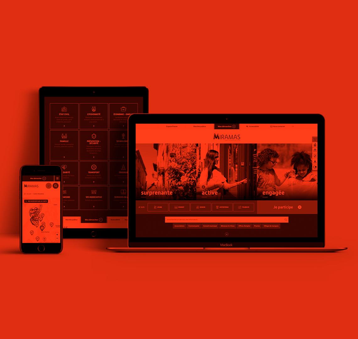 Miramas conception et production site internet